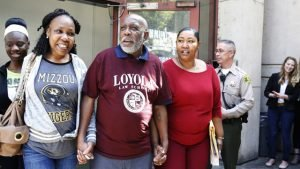 Andrew Leander Wilson with his family, shortly after his release.