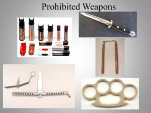 Possession of Prohibited Weapons- Pepper Spray/Nunchucks/ Switchblades