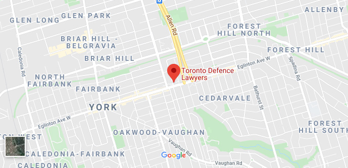 toronto criminal lawyers google map thumbnail