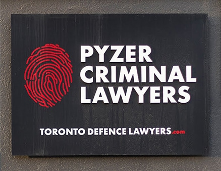 pyzer criminal lawyers building signage